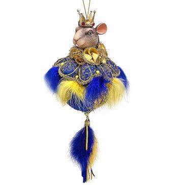 Новогоднее украшение из текстиля «Мышиный король», символ 2020 года