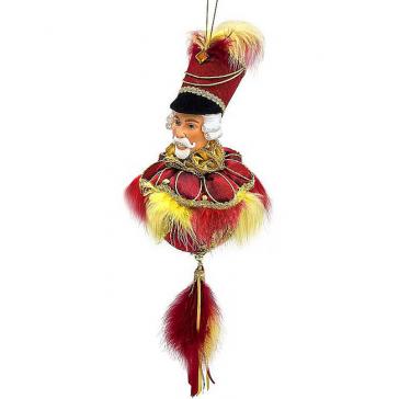 Новогоднее украшение из текстиля «Щелкунчик»