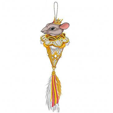 Новогоднее украшение из текстиля «Королева Мышка», символ 2020 года