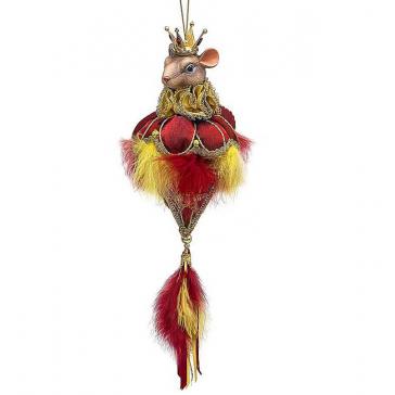 Новогоднее украшение из текстиля «Королева Мышка», ручная работа