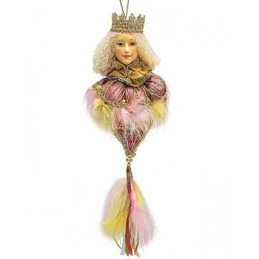 Елочное украшение из текстиля «Принцесса»