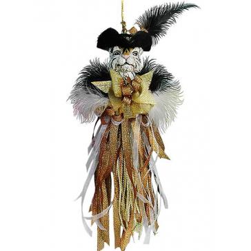 Новогоднее украшение из текстиля «Символ года — Тигр», ручная работа