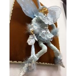 Коллекционная новогодняя кукла «Цветочный эльф», ручная работа
