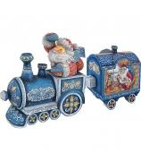 Новогодний сувенир-шкатулка «Поезд Деда Мороза»