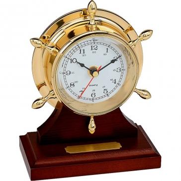 Настольные часы «Штурвал», кварцевый механизм
