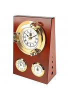 Настенные часы «Иллюминатор» с термометром и гигрометром