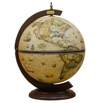 Глобус-бар настольный, диаметр сферы 42 см