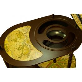 Глобус-бар напольный со столиком, диаметр сферы 42 см