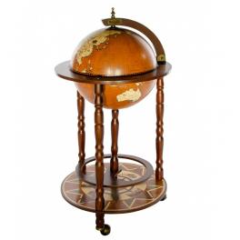 Напольный глобус-бар, диаметр сферы 33 см