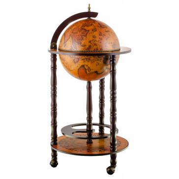 Глобус-бар напольный, диаметр сферы 33 см