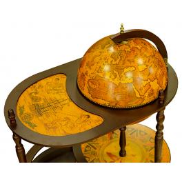 Подарочный глобус-бар напольный со столиком, диаметр сферы 42 см