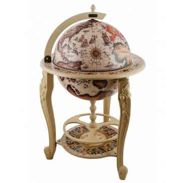 Напольный глобус-бар с подставкой, диаметр сферы 45 см