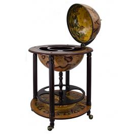 Глобус-бар напольный, с подставкой, диаметр сферы 45 см