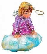 Елочная игрушка «Ангел на облаке»