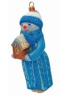 Елочная игрушка «Снеговик со скворечником»