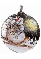Елочный шар «Снеговик и кометы»