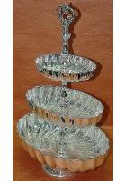 Фруктовница 3-х секционная с глубокими овальными чашами