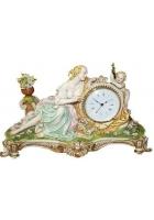Каминные часы «Дама с ангелом»