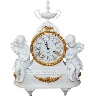 Каминные часы из фарфора «Ангелы»