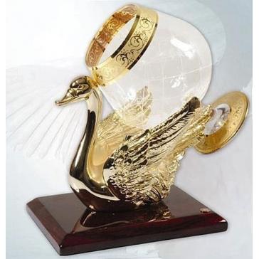 Бокал для коньяка с подогревом на подставке «Лебедь», производство CREDANSA, Испания