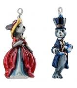 Набор елочных игрушек «Чаепитие у зайцев»