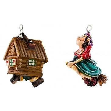 Ёлочные игрушки в наборе «Бабуся-Ягуся»