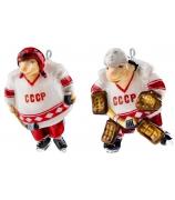 Набор елочных игрушек «Хоккеисты»