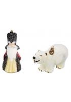 Набор елочных игрушек «Боярин с белым медведем»