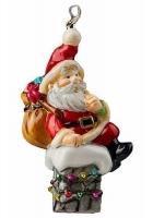 Елочная игрушка «Санта на трубе»