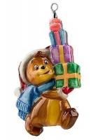 Елочная игрушка «Медвежонок с подарками»