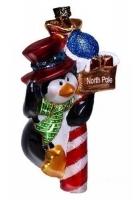 Елочная игрушка «Пингвин с подарком»