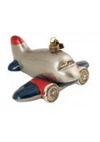 Елочная игрушка «Самолет 60-х»