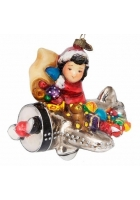 Елочная игрушка «Молодой морозец в самолете»