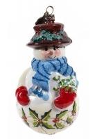 Елочная игрушка «Мальчик-снеговик»