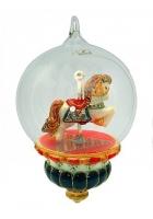Елочная игрушка-глоба «Качалка-лошадка»