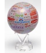 Глобус настольный самовращающийся «I love you»
