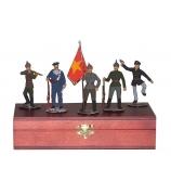 Оловянные миниатюрные фигурки «Красноармейцы»