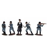 Оловянные миниатюрные фигурки «Немецкая пехота II мировая война»