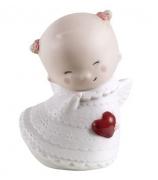 Фарфоровая статуэтка «Ангелочек с сердечком»