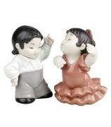 Набор из 2-х фарфоровых статуэток «Фламенко»