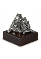 Серебряный сувенир «Влюбленные коты»