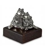 Серебряный сувенир «Влюбленные коты в свитерах»