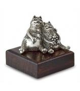 Серебряный сувенир «Влюбленные котики»