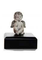 Серебряный сувенир «Мечтающий ангелочек»