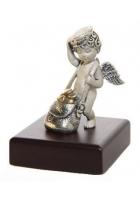 Серебряный сувенир «Амурчик-почтальон»