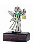 Серебряный сувенир «Ангелочек с фонариком»