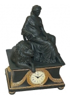 Каминные часы «Дама и лев»
