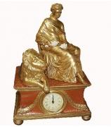 Настольные часы «Дама и лев»