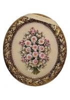Панно овальное «Букет цветов»