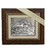 Подарочная картина «Тройка бегущих лошадей»